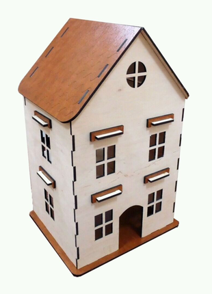 Домик для кукол. Кукольный домик. Игрушечный домик.