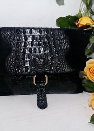 Чёрная замшевая сумка