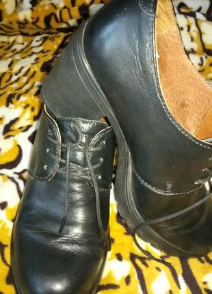 Туфли (ботинки) кожаные.