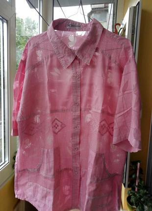 Летняя шикарная блуза-накидка с карманами.