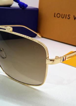 Louis vuitton солнцезащитные очки коричневые линзы градиент