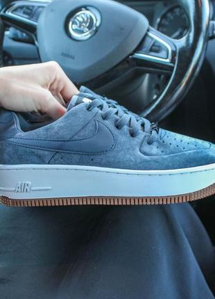 Nike air force женские кроссовки из натуральной замши