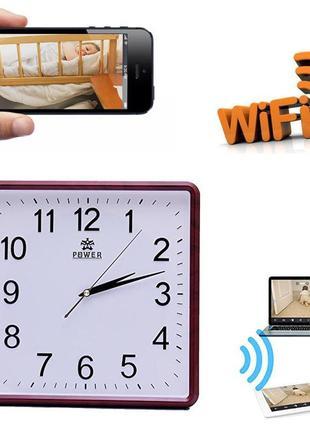 Настенные Часы WI FI IP Онлайн Трансляция  Камера FULL HD