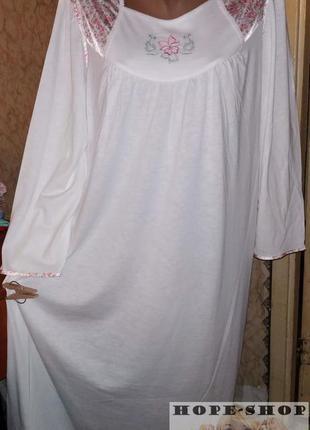 Домашнее блое платье , ночная рубашка ,сорочка 52/60