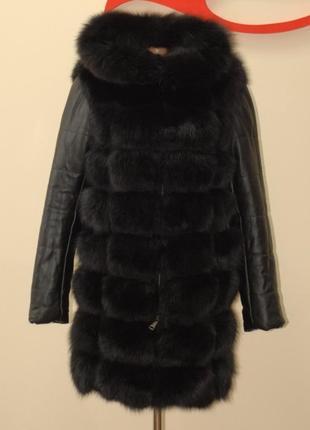 Стильная куртка трансформер с мехом песца