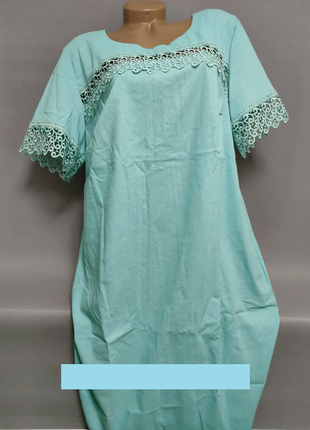 Женское платье  льняное больших размеров