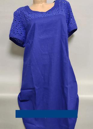 Платье женское  льняное больших размеров