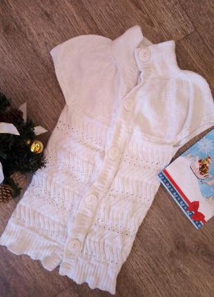Туника свитер кофта молочного цвета