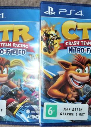 Crash Team Racing Nitro-Fueled. Новый диск PS4, Оригинал