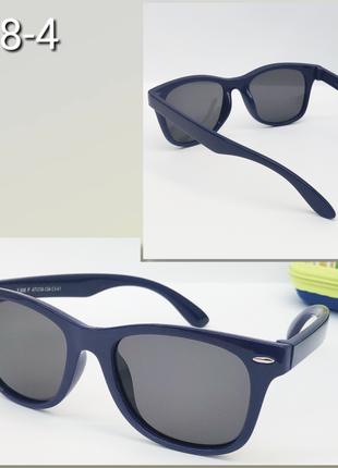 Солнцезащитные  детские очки с поляризацией в синей оправе