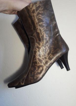 ПИТОН Туфли \ полу- сапоги женские из кожи питона pitti moda