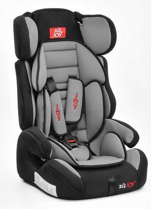 Автокресло универсальное Joy с бустером, 9-36 кг, черно-серое SKL