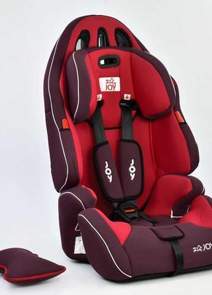 Автокресло универсальное Joy с бустером, 9-36 кг, красное SKL11-1