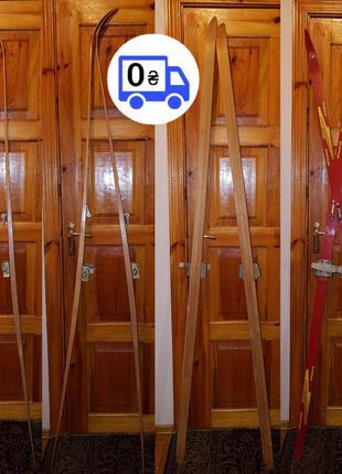 Лыжи новые деревянные винтаж СССР взрослые Белоруссия Телеханы