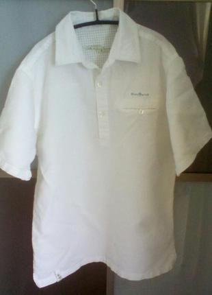 Летняя лёновая рубашка с короткими рукавами