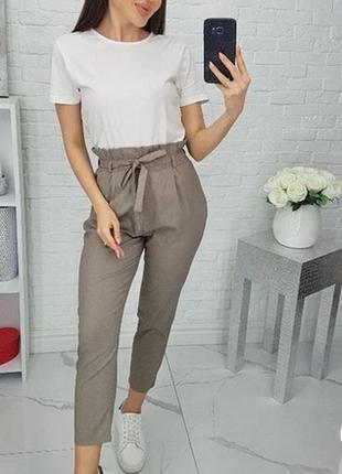 Модные летние брюки с завышенной талией