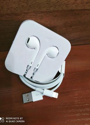Оригигал! Apple iPhone lightning aerpods наушники кабель шнур