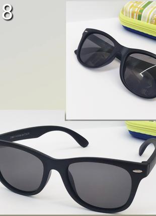 Солнцезащитные очки с поляризацией в матовой оправе