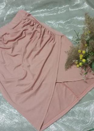 Ассиметричная юбка цвета пыльной розы