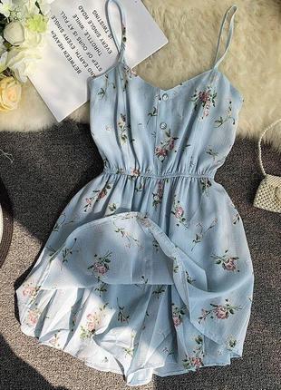 ❤ женское бирюзовое платье  ромпер ❤