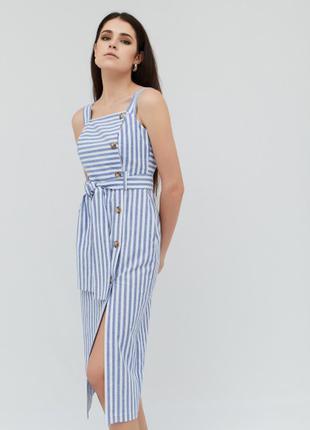 Платье синее  в полоску ВЕСНА-ЛЕТО