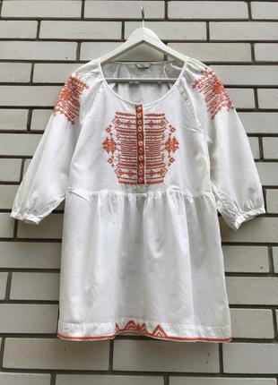 Вышиванка блузка этно бохо стиль indigo