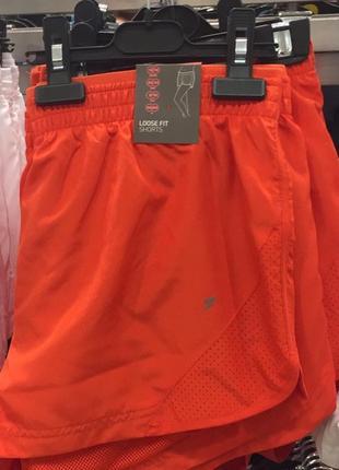 Яркие спортивные шорты шортики рrimark, loose fit