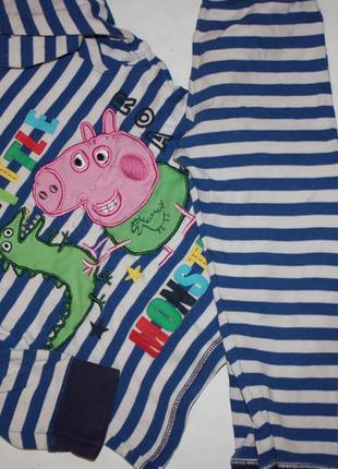 """Котоновая пижама ф.mothercare """"свинка пепа"""" р-104 для мальчика..."""