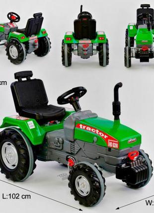 Трактор с педалями БОЛЬШОЙ 07-294 цвет ЗЕЛЁНЫЙ, прорезиненные ...