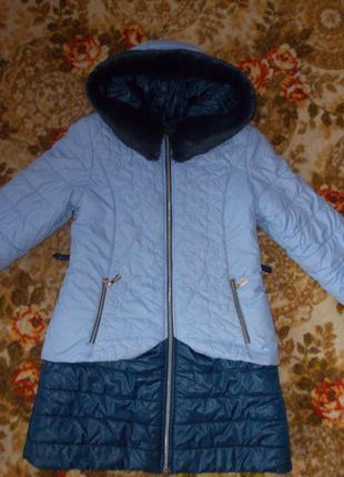 Зимняя куртка на девочку 40р