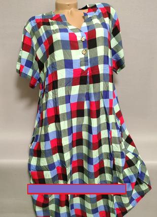 Рубашка/ платье женская большой размер.