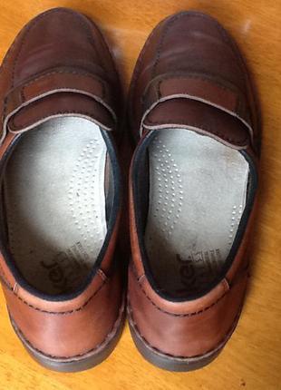 Немецкие кожаные туфли rieker 44-45 (30.5) на широкую ногу