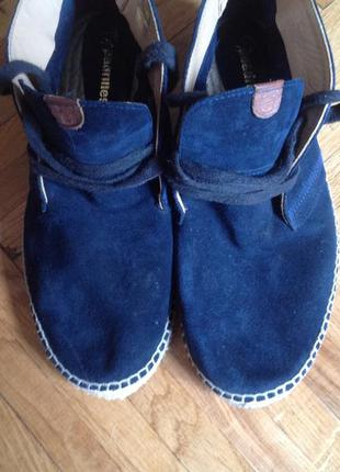 Испанские замшевые кожаные ботинки espadrilles  42 {28.5}