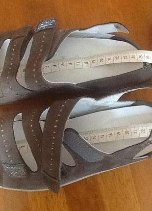 Немецкие кожаные босоножки ara 38 k (24.5-9) на очень широкую ...
