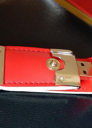 Брелок-флешка Jaster (кожа/металл) 64 ГБ.