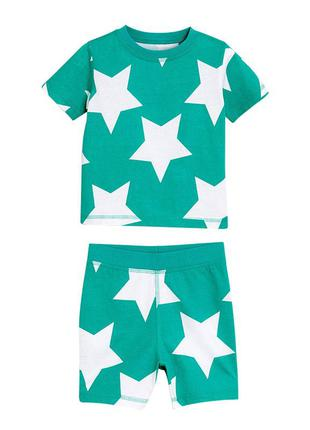 Пижама для мальчика, бирюзовая. звезды.