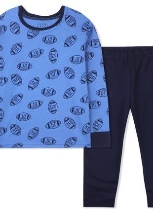 Пижама для мальчика, синяя. американский футбол