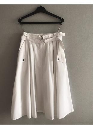 Юбка, юбка миди, белая юбка