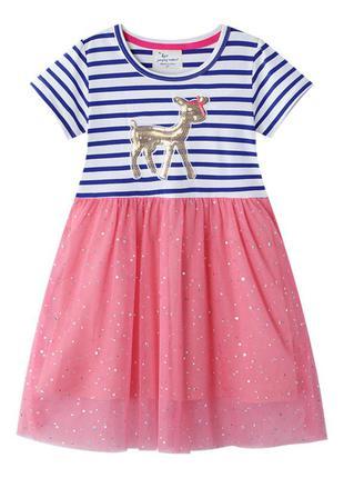 Платье для девочки, розовое. бемби.
