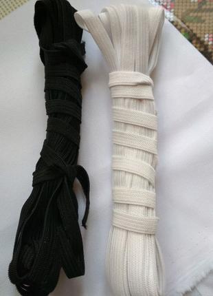 Комплект по 5 метров белая/черная