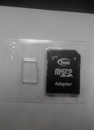 Адаптер Переходник Adapter Team флеш памяти с Micro sd на SD болш