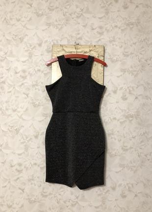 Блестящее люрексовое платье missguided, новое!