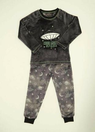 Пижамка пушистый флис от dunnes stores на 3-4, 5-6, 7-8 лет