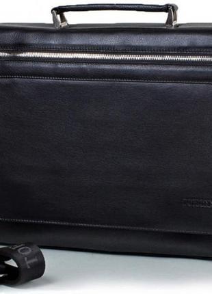 Кожаный мужской портфель стильный сумка-портфель мужская натур...