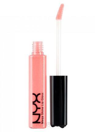 Nyx mega shine lip gloss блеск для губ 162 nude pech
