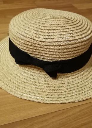 Детская шляпа канотье девочка 49-51