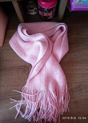 Скидка!пудра/розовый 🌺шарф с люрексом matalan