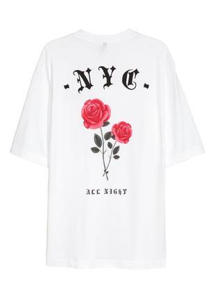 Белая оверсайзовая футболка h&m !