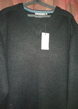 Черный теплый свитер 2хл