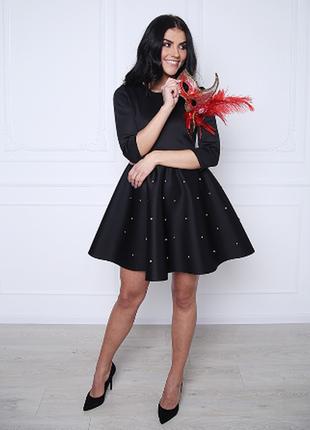 Пышное платье с бусинками